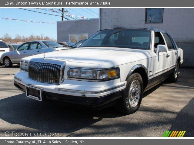 1996 Lincoln Town Car Interior 1996 Lincoln Town Car Signature Blue