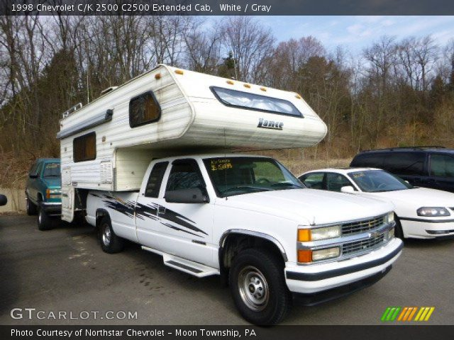 white 1998 chevrolet c k 2500 c2500 extended cab gray interior vehicle. Black Bedroom Furniture Sets. Home Design Ideas