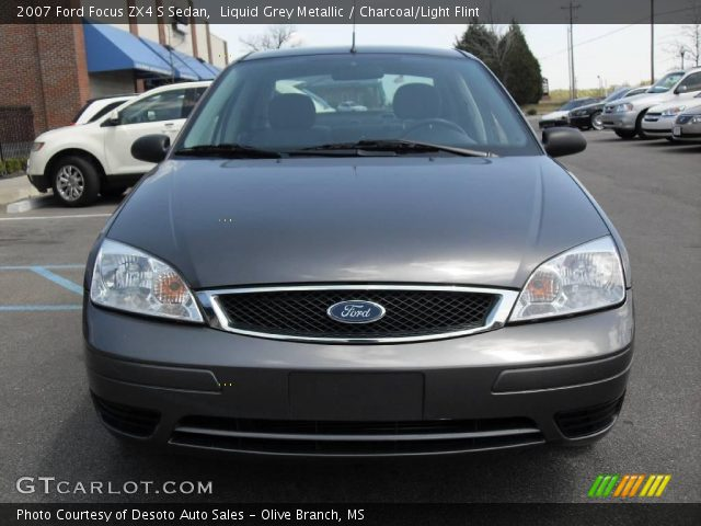 liquid grey metallic 2007 ford focus zx4 s sedan. Black Bedroom Furniture Sets. Home Design Ideas