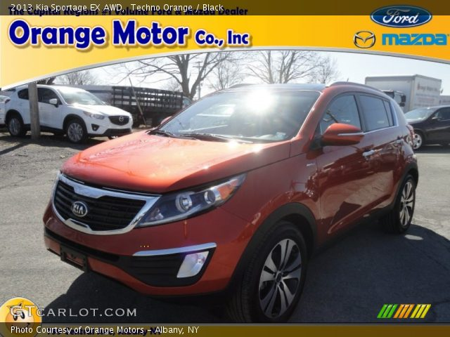 2013 Kia Sportage EX AWD in Techno Orange