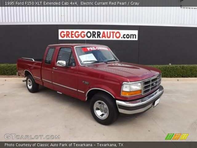 electric currant red pearl 1995 ford f150 xlt extended cab 4x4 gray interior. Black Bedroom Furniture Sets. Home Design Ideas