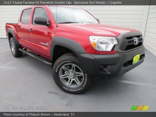 barcelona red metallic 2013 toyota tacoma v6 prerunner double cab graphite interior. Black Bedroom Furniture Sets. Home Design Ideas