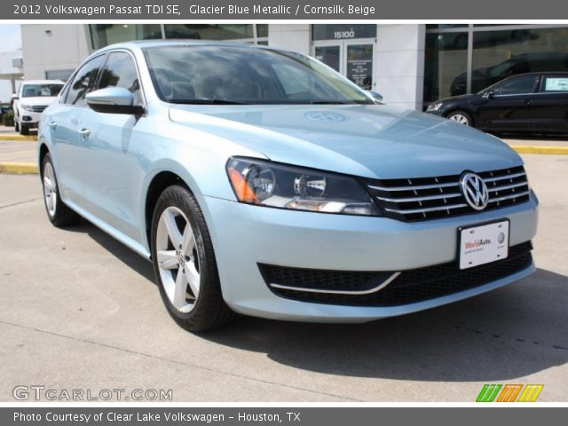 glacier blue metallic 2012 volkswagen passat tdi se cornsilk beige interior. Black Bedroom Furniture Sets. Home Design Ideas
