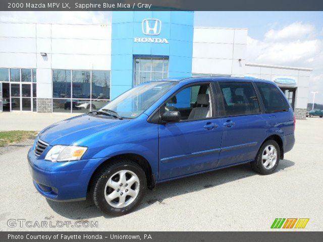 2000 Mazda MPV LX in Sapphire Blue Mica