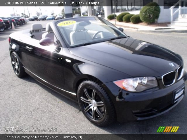 jet black 2008 bmw 1 series 128i convertible taupe interior vehicle archive. Black Bedroom Furniture Sets. Home Design Ideas