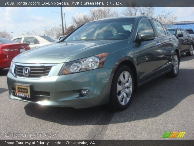 mystic green metallic 2009 honda accord ex l v6 sedan. Black Bedroom Furniture Sets. Home Design Ideas