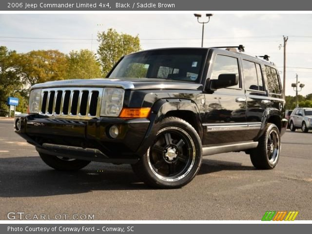 Black 2006 Jeep Commander Limited 4x4 Saddle Brown Interior Vehicle Archive