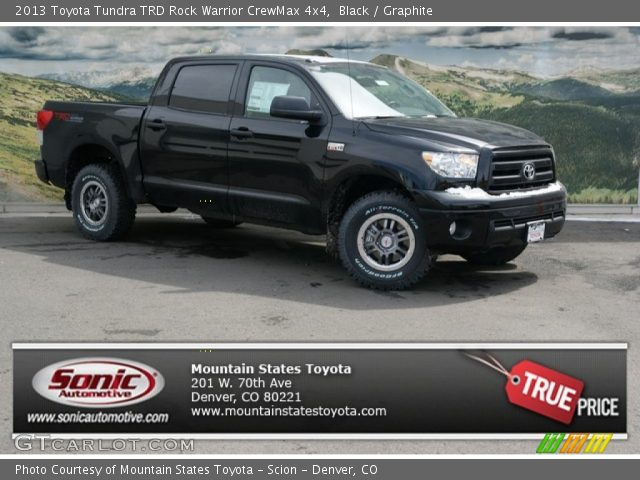 black 2013 toyota tundra trd rock warrior crewmax 4x4. Black Bedroom Furniture Sets. Home Design Ideas