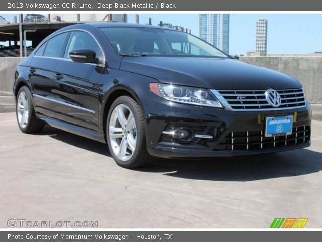 deep black metallic 2013 volkswagen cc r line black interior vehicle. Black Bedroom Furniture Sets. Home Design Ideas