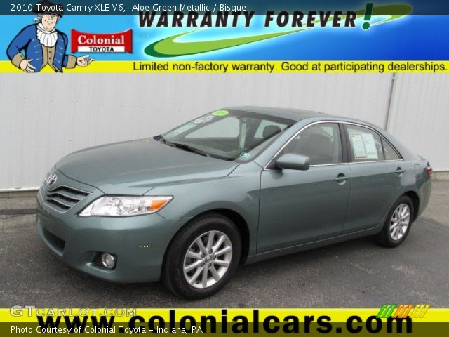aloe green metallic 2010 toyota camry xle v6 bisque. Black Bedroom Furniture Sets. Home Design Ideas