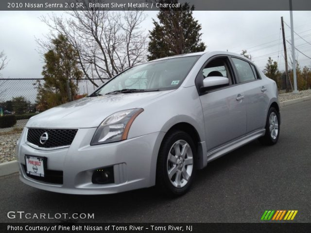 brilliant silver metallic 2010 nissan sentra 2 0 sr charcoal interior. Black Bedroom Furniture Sets. Home Design Ideas