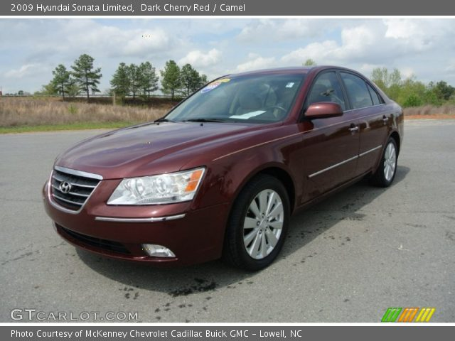 dark cherry red 2009 hyundai sonata limited camel. Black Bedroom Furniture Sets. Home Design Ideas