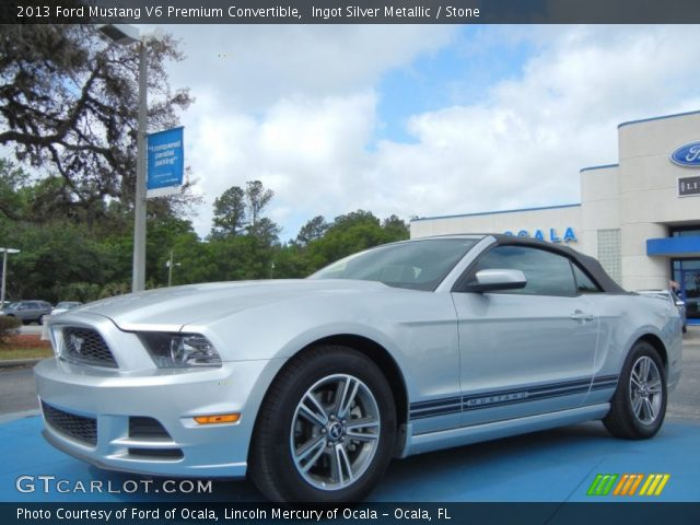 Bickford Ford Used Trucks 2013 Ford Mustang V6 Premium Convertible in Ingot Silver Metallic