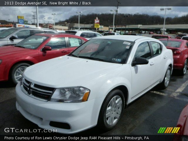 new bright white 2013 dodge avenger se black interior. Black Bedroom Furniture Sets. Home Design Ideas