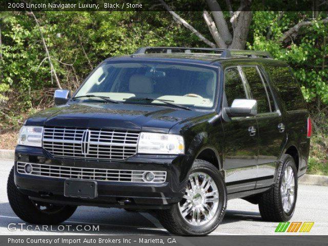 Black 2008 Lincoln Navigator Luxury Stone Interior Vehicle Archive 79713125