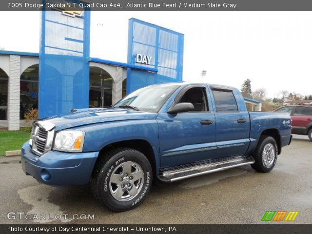 Atlantic Blue Pearl 2005 Dodge Dakota Slt Quad Cab 4x4