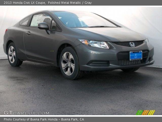 polished metal metallic 2013 honda civic lx coupe gray interior vehicle. Black Bedroom Furniture Sets. Home Design Ideas