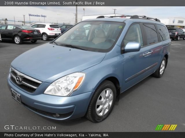 2008 Hyundai Entourage Limited in South Pacific Blue