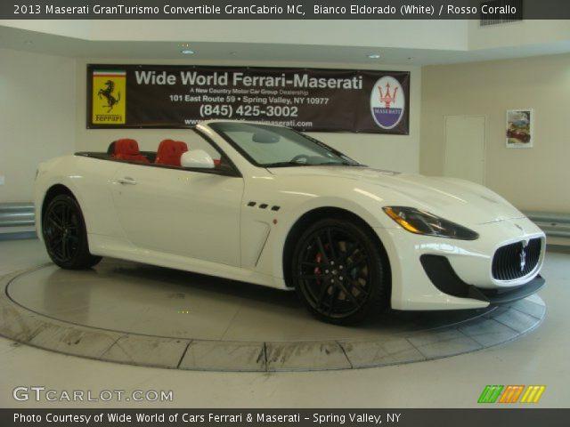 2013 Maserati GranTurismo Convertible GranCabrio MC in Bianco Eldorado (White)