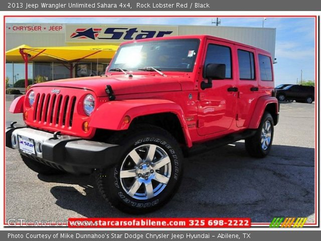Rock lobster red 2013 jeep wrangler unlimited sahara 4x4 - Jeep wrangler red interior for sale ...