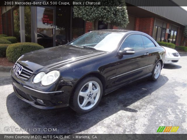 Black 2003 Mercedes Benz Clk 500 Coupe Charcoal