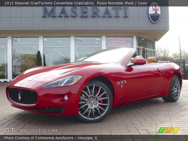 Rosso mondiale red 2013 maserati granturismo - Maserati granturismo red interior ...