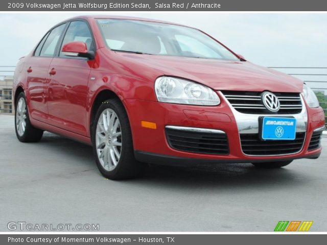 salsa red 2009 volkswagen jetta wolfsburg edition sedan. Black Bedroom Furniture Sets. Home Design Ideas
