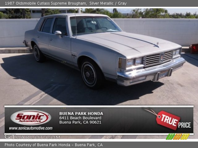 1987 Oldsmobile Cutlass Supreme Brougham in Silver Metallic