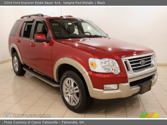 sangria red metallic 2009 ford explorer eddie bauer 4x4 black interior. Black Bedroom Furniture Sets. Home Design Ideas