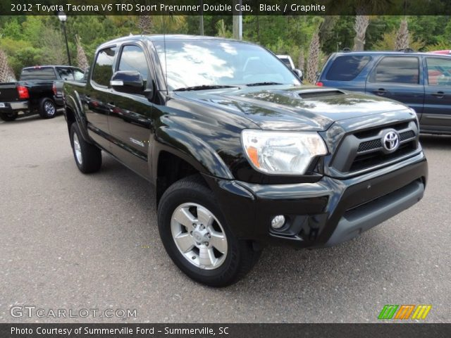 black 2012 toyota tacoma v6 trd sport prerunner double cab graphite interior. Black Bedroom Furniture Sets. Home Design Ideas