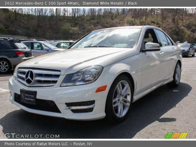 diamond white metallic 2012 mercedes benz c 300 sport 4matic black interior. Black Bedroom Furniture Sets. Home Design Ideas