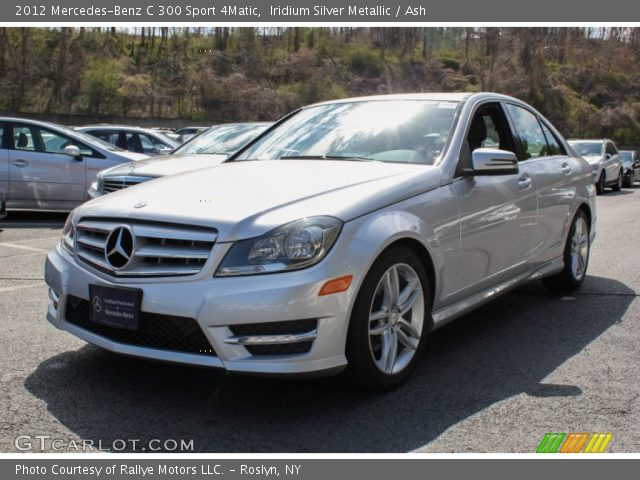 iridium silver metallic 2012 mercedes benz c 300 sport 4matic ash interior. Black Bedroom Furniture Sets. Home Design Ideas