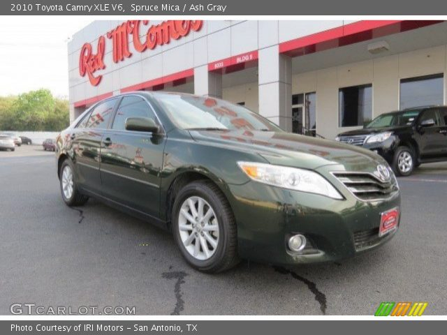 spruce mica 2010 toyota camry xle v6 ash gray interior. Black Bedroom Furniture Sets. Home Design Ideas