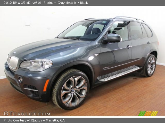 platinum gray metallic 2012 bmw x5 xdrive50i black interior vehicle archive. Black Bedroom Furniture Sets. Home Design Ideas