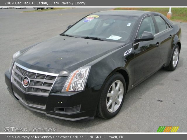 black raven 2009 cadillac cts sedan ebony interior. Black Bedroom Furniture Sets. Home Design Ideas