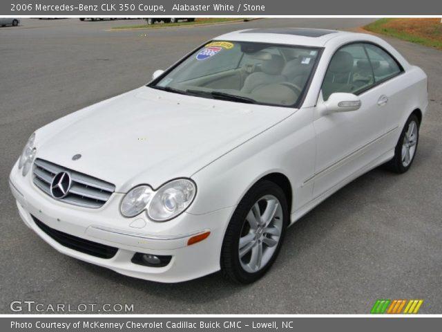 Alabaster white 2006 mercedes benz clk 350 coupe stone for 2006 mercedes benz clk350