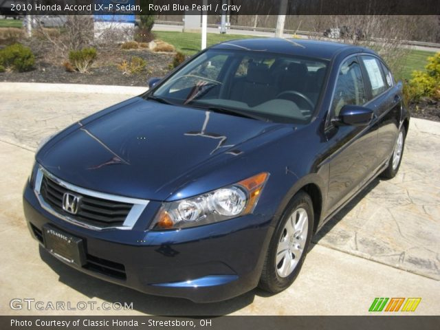 royal blue pearl 2010 honda accord lx p sedan gray. Black Bedroom Furniture Sets. Home Design Ideas