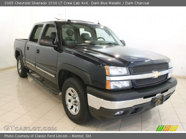 dark blue metallic 2005 chevrolet silverado 1500 lt crew cab 4x4 dark charcoal interior. Black Bedroom Furniture Sets. Home Design Ideas