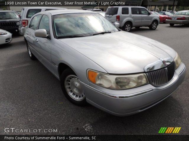 Silver Frost Metallic 1998 Lincoln Town Car Executive