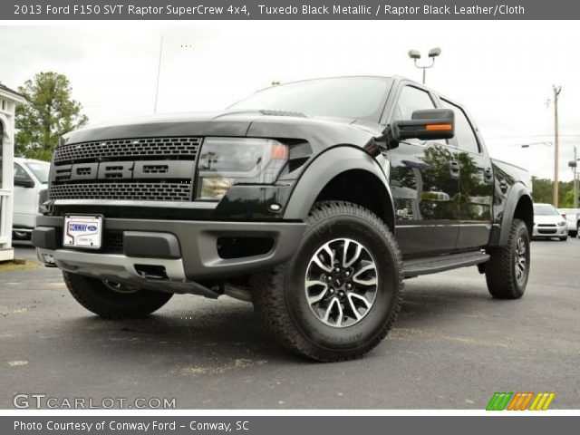 2013 ford f150 svt raptor supercrew 4x4 in tuxedo black metallic - Black Ford F150 Raptor 2014