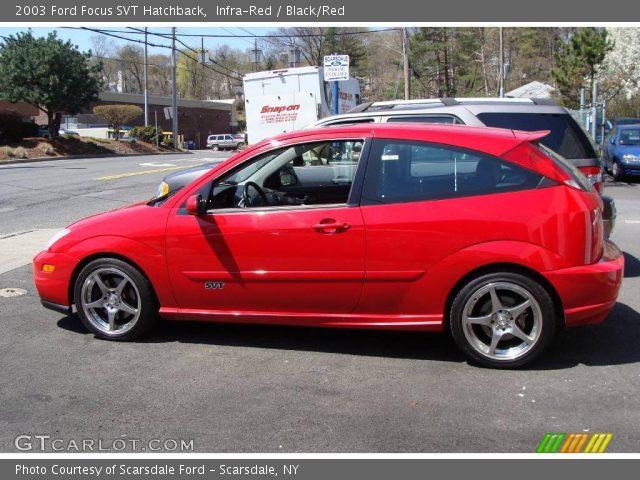 infra red 2003 ford focus svt hatchback black red. Black Bedroom Furniture Sets. Home Design Ideas