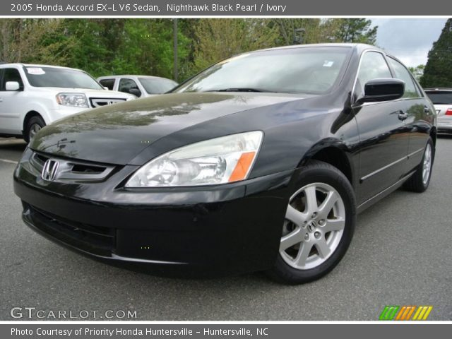 nighthawk black pearl 2005 honda accord ex l v6 sedan