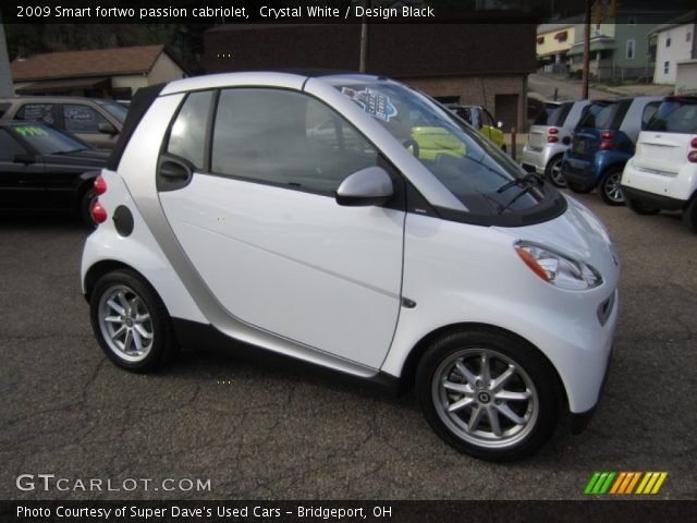 crystal white 2009 smart fortwo passion cabriolet design black interior. Black Bedroom Furniture Sets. Home Design Ideas