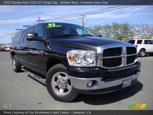 brilliant black 2007 dodge ram 2500 slt mega cab. Black Bedroom Furniture Sets. Home Design Ideas