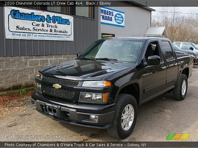 black 2010 chevrolet colorado lt crew cab 4x4 ebony. Black Bedroom Furniture Sets. Home Design Ideas