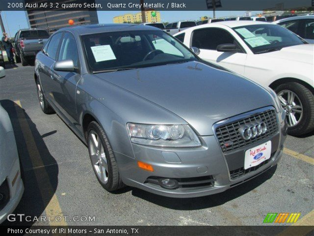 quartz grey metallic 2008 audi a6 3 2 quattro sedan black interior vehicle. Black Bedroom Furniture Sets. Home Design Ideas