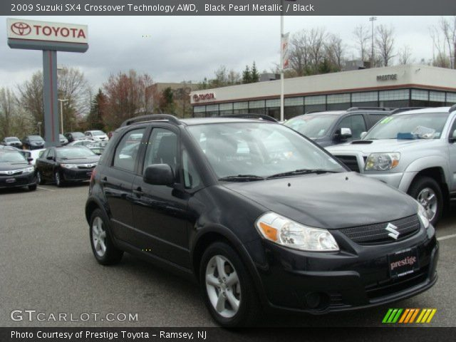 2009 Suzuki SX4 Crossover Technology AWD in Black Pearl Metallic