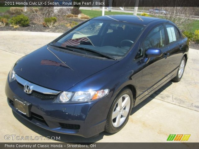 royal blue pearl 2011 honda civic lx s sedan black interior vehicle archive. Black Bedroom Furniture Sets. Home Design Ideas