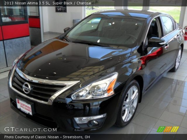 super black 2013 nissan altima 3 5 sl charcoal interior vehicle archive. Black Bedroom Furniture Sets. Home Design Ideas