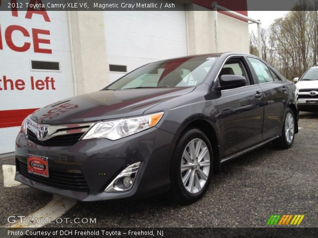 magnetic gray metallic 2012 toyota camry xle v6 ash interior vehicle. Black Bedroom Furniture Sets. Home Design Ideas